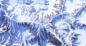 Montanhas na neve Imagens de Stock