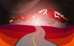 Montanhas na noite Ilustração Royalty Free