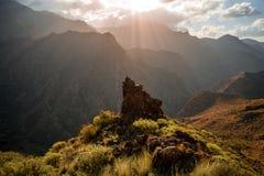 Montanhas na parte ocidental da ilha de Gran Canaria Imagens de Stock Royalty Free