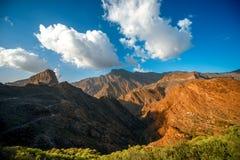 Montanhas na parte ocidental da ilha de Gran Canaria Imagem de Stock