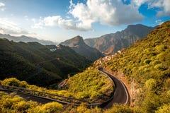 Montanhas na parte ocidental da ilha de Gran Canaria Fotos de Stock Royalty Free