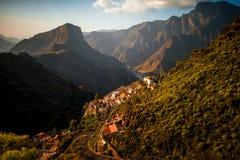 Montanhas na parte ocidental da ilha de Gran Canaria Imagens de Stock