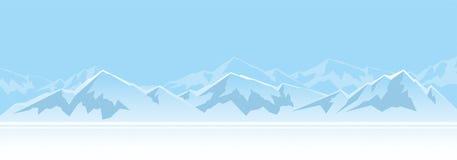 Montanhas na tarde ilustração royalty free