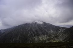 Montanhas nas nuvens Foto de Stock Royalty Free