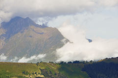 Montanhas nas nuvens no.1 Imagem de Stock Royalty Free