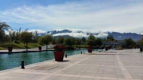 Montanhas nebulosas Fotos de Stock Royalty Free