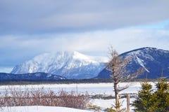 Montanhas nevado Imagens de Stock