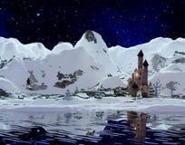 MONTANHAS NEVADO Imagem de Stock Royalty Free