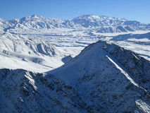 Montanhas nevado, Afeganistão Imagens de Stock