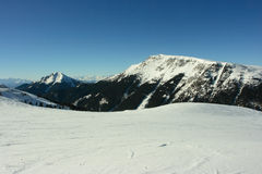 Montanhas nevado das dolomites Fotografia de Stock Royalty Free