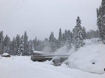 Montanhas nevado na geleira Hot Springs Imagem de Stock