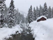 Montanhas nevado na geleira Hot Springs Imagem de Stock Royalty Free