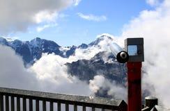 Montanhas nevado suíças vistas do Schilthorn Fotos de Stock Royalty Free