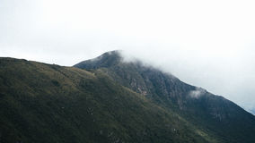 Montanhas nevoentas verdes foto de stock royalty free