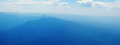 Montanhas no céu Imagem de Stock Royalty Free