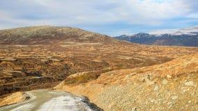 Montanhas no distrito de Oppdal, Noruega fotos de stock
