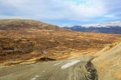 Montanhas no distrito de Oppdal, Noruega imagem de stock