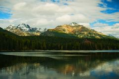Montanhas no eslovaco Foto de Stock