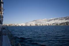 Montanhas no inverno Imagem de Stock