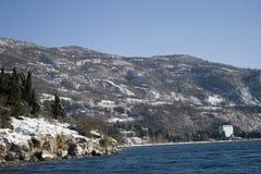 Montanhas no inverno Foto de Stock