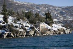 Montanhas no inverno Fotos de Stock Royalty Free