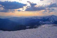 Montanhas no inverno Imagens de Stock Royalty Free