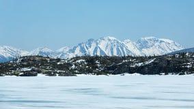 Montanhas no norte foto de stock