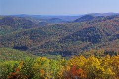Montanhas no outono, Deerfield de Berkshire, Massachusetts Fotografia de Stock