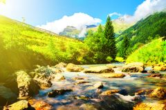 Montanhas no parque Imagem de Stock Royalty Free