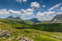 Montanhas no parque Montenegro de Durmitor Imagem de Stock Royalty Free