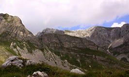 Montanhas no parque nacional de Durmitor, Montenegro Fotografia de Stock Royalty Free