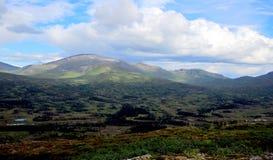 Montanhas no parque nacional de Skarvan e de Roltdalen Fotografia de Stock