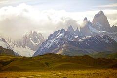 Montanhas no Patagonia, Argentina do ANC Cerro Torre de Fitz Roy Imagens de Stock