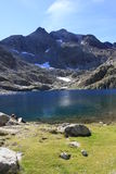 Montanhas no vale de Tena, Pyrenees Panticosa Imagem de Stock Royalty Free