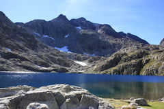 Montanhas no vale de Tena, Pyrenees Panticosa Imagens de Stock