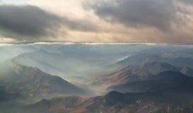 Montanhas nublado Foto de Stock