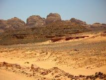 Montanhas o deserto. África Imagem de Stock