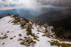 Montanhas perto de Cammarata, Sicília, Itália Fotografia de Stock