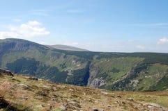 Montanhas polonesas Karkonosze imagens de stock