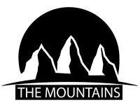 Montanhas preto e branco ilustração do vetor