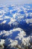 Montanhas rochosas do inverno Foto de Stock