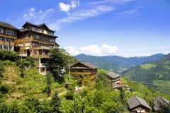 Montanhas rurais China fotografia de stock