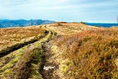 Montanhas rurais da estrada Imagens de Stock
