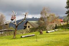Montanhas sós da casa, Colonia Tovar, Venezuela Imagens de Stock Royalty Free