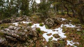 Montanhas sicilianos de Cammarata, Itália imagem de stock