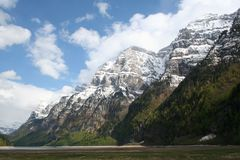 Montanhas suíças, Klontal, Switzerland Imagens de Stock