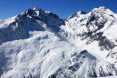 Montanhas suíças no inverno Foto de Stock
