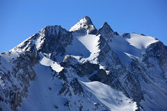 Montanhas suíças no inverno Imagem de Stock Royalty Free