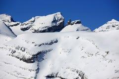 Montanhas suíças no inverno Fotos de Stock Royalty Free