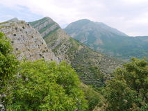 Montanhas surpreendentes Montenegro da vista Fotografia de Stock Royalty Free